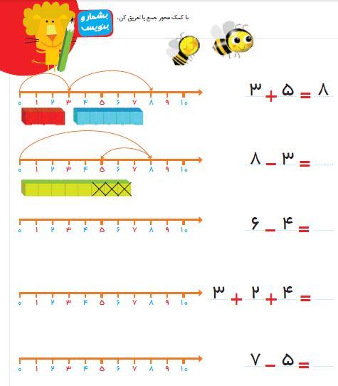 ریاضی اول دبستان حرف اخر